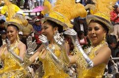 bolivia karnevalfebruari oruro 2009 Royaltyfri Bild