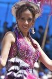 bolivia karnevalfebruari oruro 2009 Arkivbild