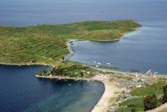 bolivia kmotrów jeziorny llapampa titicaca obraz royalty free