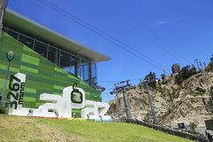 Green line station of La Paz Teleferico Cable car, Bolivia Royalty Free Stock Images