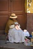 Bolivia - La Paz - Local Woman Stock Photo
