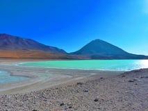 bolivia laguna verde Arkivbilder