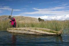 bolivia laketiticaca Royaltyfri Fotografi