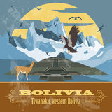 Bolivia landmarks. Retro styled image Royalty Free Stock Photos
