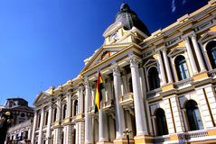 bolivia laparlament paz Arkivbild