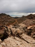 Bolivia mountains panorama sucre inca path hiking Royalty Free Stock Image