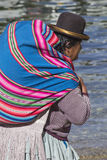 BOLIVIA - OCTOBER 29,2015 : Local people in Bolivia. Royalty Free Stock Photos