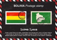 Bolivia Postage stamp, vintage stamp, air mail envelope. Stock Photo