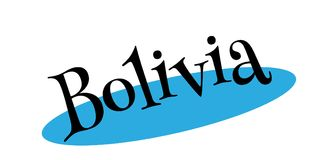 Bolivia rubber stamp Stock Images