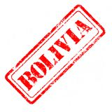 BOLIVIA Rubber Stamp. On white background Royalty Free Stock Photo