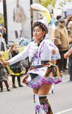 Bolivia's traditional dance parade Royalty Free Stock Image