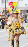 Bolivia's traditional dance parade Royalty Free Stock Photography