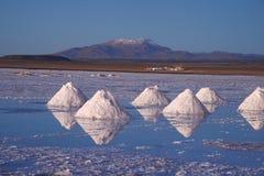 Bolivia salt pile Royalty Free Stock Image
