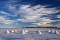 Bolivia salt pile Royalty Free Stock Photography