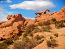 Bolivia sand desert mountain Panorama rocks and stones Royalty Free Stock Photo