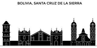 Bolivia, Santa Cruz De La Sierra architecture vector city skyline, travel cityscape with landmarks, buildings, isolated Stock Image
