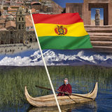 Bolivia - Tourist Destinations. In Bolivia - La Paz, Tiwanaku pre-Inca Site and Lake Titicaca stock photos