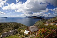 Bolivia. A view from titicaca lake from the sun island, bolivia Stock Image