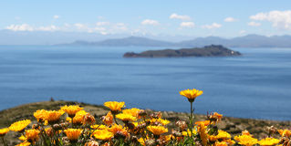 Bolivia. A view from titicaca lake from the sun island, bolivia Stock Photo