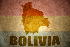 Bolivia vintage  map Stock Image