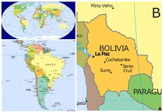 Bolivia & World Royalty Free Stock Photography