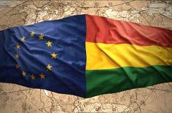 Bolivia y unión europea libre illustration