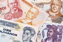 Boliviaans geld, een achtergrond royalty-vrije stock fotografie