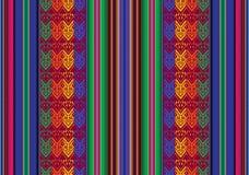 Boliviaans naadloos patroon Stock Afbeelding