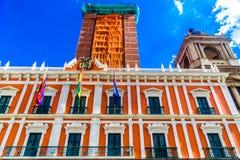 Boliviaans Paleis van Overheid - Palacio Quemado - in La Paz stock afbeeldingen