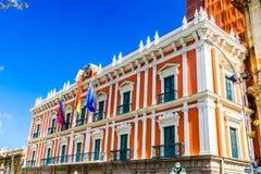 Boliviaans Paleis van Overheid - Palacio Quemado - in La Paz royalty-vrije stock foto's
