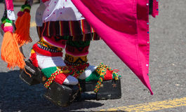 Boliviaanse parade Stock Fotografie