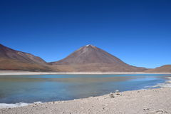 Bolivian Altiplano. Chilean-Bolivian Volcano. Licancabur Volcano in the Bolivian Altiplano Stock Photos