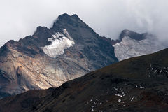 Bolivian Andes. Mountain peaks and glaciers in Chacaltaya Range, Cordillera Real, Bolivian Andes, near La Paz Stock Images