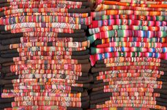 Bolivian blankets Royalty Free Stock Photo
