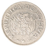 Bolivian boliviano coin Stock Photo