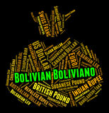 Bolivian Boliviano Indicates Worldwide Trading And Coin Royalty Free Stock Image