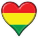 Bolivian button flag heart shape Stock Image