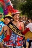 bolivian carnaval dansare del morenada pueblo Arkivbild