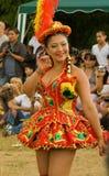 bolivian carnaval dansare del morenada pueblo Royaltyfri Bild