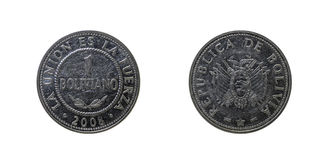 Bolivian coin Royalty Free Stock Photos