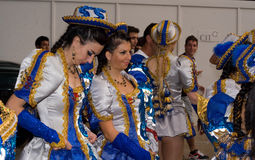 Bolivian Dancers at the Night Carnival Stock Photo