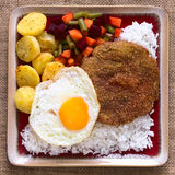 Bolivian Dish Called Silpancho Royalty Free Stock Image