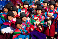 Bolivian Dolls. From the  Native Indigenous Culture at a local sunday market in La Paz, Bolivia Stock Images