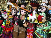 Bolivian Dolls. On display stock photo