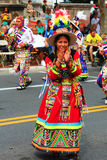 Bolivian Ethnic Dancers Royalty Free Stock Photo