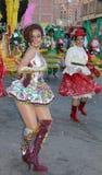 Bolivian Fiesta. Dancers performing the Morenada during a fiesta in La Paz, Bolivia in 2012 Royalty Free Stock Photos