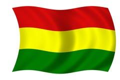 Bolivian flag. Waving flag of bolivia Stock Illustration