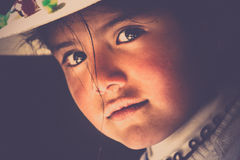 Bolivian girl portrait Royalty Free Stock Photo