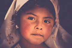 Bolivian girl portrait Royalty Free Stock Photography