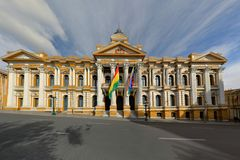 Bolivian Government Building, La Paz Royalty Free Stock Images